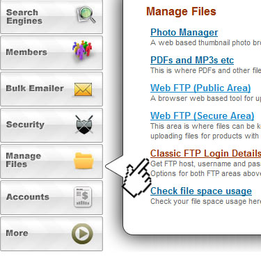 FTP using Mozilla Firefox - Uploading content - Content Management